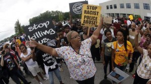 Protesting police brutality and murders of black youth in Ferguson