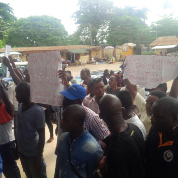 YES workers protesting in Benin