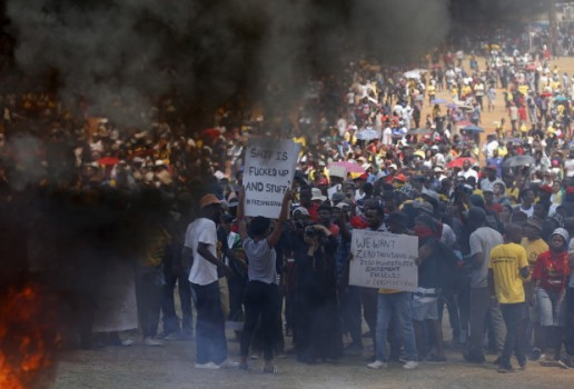 students protests rock a rotten post-apartheid system in S/Africa