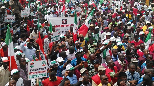 mass rally against the electricity tariff hike