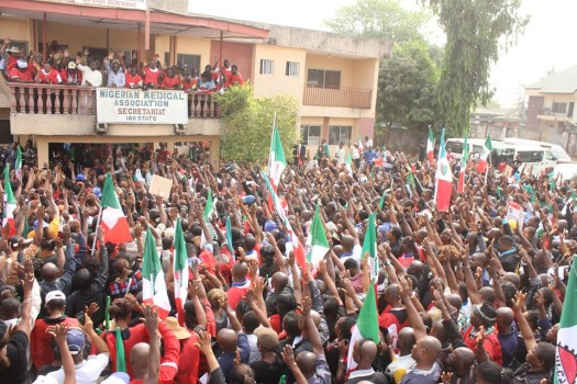 mass protest shuts down Imo state & its concessioning!